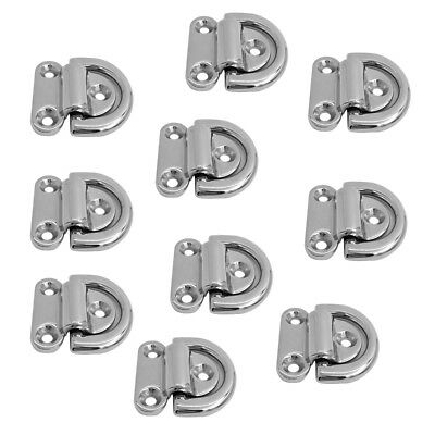 10x Folding D Ring Tie Down Lashing Point Anchor Fixing Cleat Plate