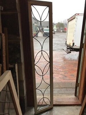 SG 2214 antique leaded glass transom window 15 x 73