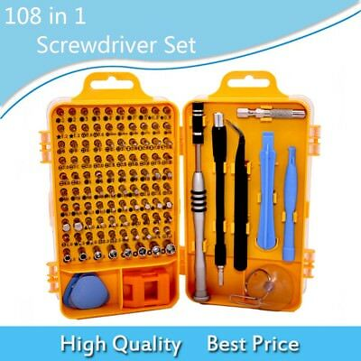 108 In 1 Phone/Cellphone Repair Hand Tools Kit Screwdriver Sets PC/Computer