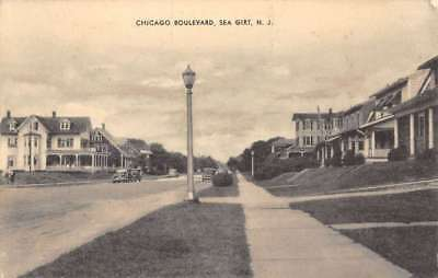 Sea girt new jersey governors cottage street view antique postcard sea girt new jersey chicago boulevard street view antique postcard k89918 sciox Images