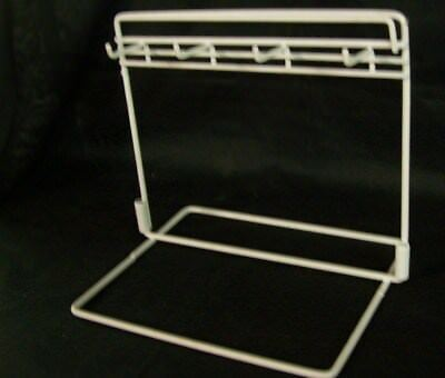 """Store Display Fixtures 4 HOOK WIRE COUNTERTOP PEG DISPLAY White 10"""" wide"""