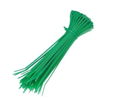 6 Inch Cable Ties - 100 Pack Green - UV Weather Resistant 50 LBs Nylon Zip Ties
