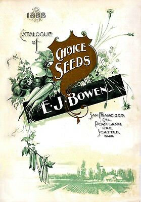 Bowen Collection Vintage Fruits Seed Packet Catalogue Advertisement Poster