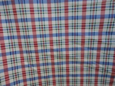 3 Yds Waverly Fabric ~ Claires Check ~ Red White Blue Green ~ Upholstery Drapery