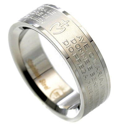 religione prayer PADRE band RING OUR STEEL MAN WOMAN AVE MARIA swarovsky