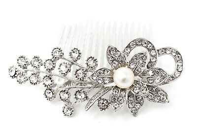 Wedding Hair Comb Rhinestones pearl Bridal Hair Accessories for Bridesmaids H162