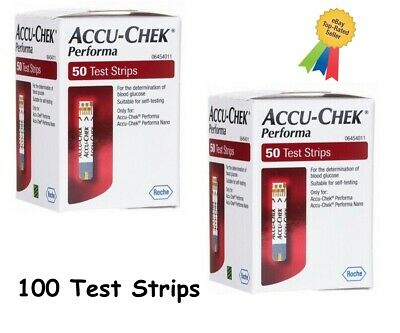Accu-Chek Performa Blood Glucose Monitoring —long Expiry.2 Pack Of 50 Ex 02/2020