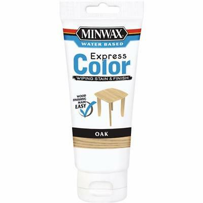 Minwax Express Color Low Lustre Water Based Wiping Stain / Finish Oak 6 OZ