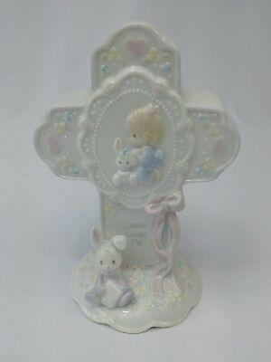 Precious Moments JESUS LOVES ME cross nightlight for little girl with box