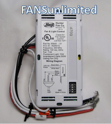 85645 01 hunter ceiling fan receiver new genuine replacement