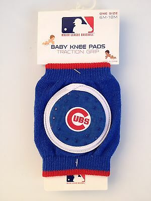 Chicago Cubs Baby Knee Pads Size 6M-18M Comfort Knee Traction Grip.