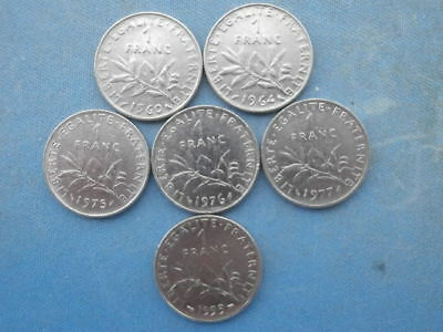 France lot 98 pieces 50 centimes semeuse 1965 2000 eur for Bon pour 2 francs 1925 chambre commerce
