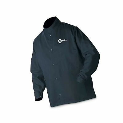 Miller Electric 2241909 Welding Jacket, Navy, Cotto... - NO TAX. FREE 2 day Ship