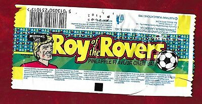 Roy of the Rovers confectionery wrapper 1990