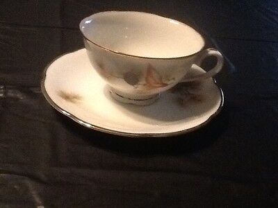 Pine Tree Fine Translucent China CUP and SAUCER Japan     #9/2