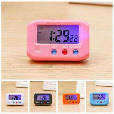 Portable Digital LCD Alarm Clock Snooze Backlight Desk Room Car Decor Clock Home