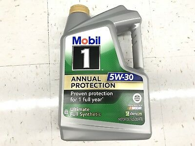 Mobil 1 Annual Protection Ultimate Full Synthetic Motor Oil 5W-30 5 Quart Jug