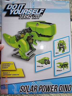 Do it yourself tech kit mini solar powered robot makes 3 types dino do it yourself tech kit mini solar powered robot makes 3 types dino insect solutioingenieria Gallery