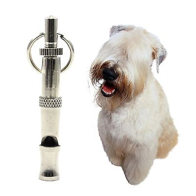 Pet Dog Training Obedience Whistle Adjustable Flute With A Key Ring Loop New
