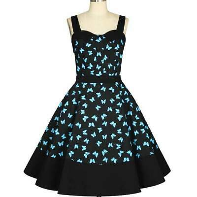 Chic Star Butterfly Dress Retro Prom 50s Vintage Pin Up Rockabilly Print