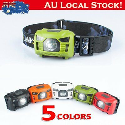 Waterproof Rechargeable LED USB Infrared Headlight Camping Hiking Head Lamp P