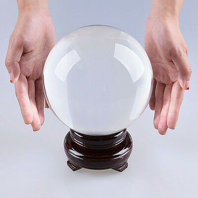 """LONGWIN 150mm 5.91"""" D Clear Quartz Crystal Ball Sphere Photo Props Free Stand"""