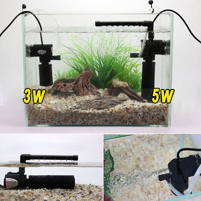 3 in 1 Internal Aquarium Mini Filter Submersible Oxygen Pump Spray Fish Tank