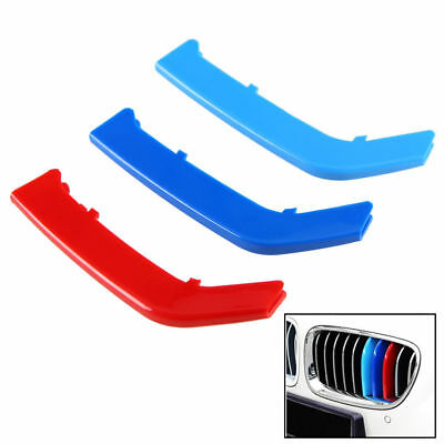 BMW 3 Series F30 ABS M Color Kidney Grill Bar Grille Covers Decal Strip Clip EG