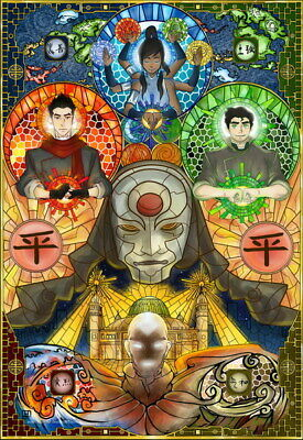 """178 Avatar The Last Airbender - Aang Fight Japan Anime 14""""x20"""" Poster"""