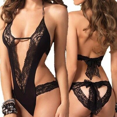 Women Sexy/Sissy Hot Lace Black Lingerie Costume (INT)