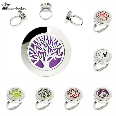 Promotion Aromatherapy Perfume Ring Diffuser Locket Finger Ring Stainless Steel