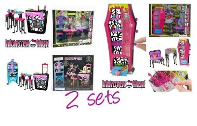 Monster High doll CREEPATERIA CAFE restaurant food table chair shop toy Playset