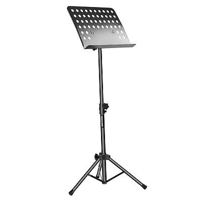Collapsible Sheet Music Stand Adjustable Height 180˚ Tray Tilt Bookplate Durable
