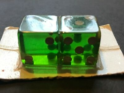 Vintage Never Opened on Card / Cool Green 7up Dice / all 5's and 2's / SWEET!