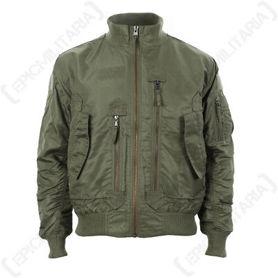 US Tactical Flight Jacket - Olive Drab - Men's Coat American Military All Sizes