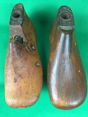 Antique Children's Wood Shoe Molds 5 1/2 D & 6 D Cobbler Shoe Forms Shoe Lasts