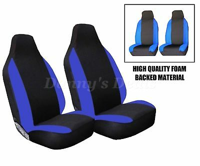 Front Blue Racing Car Seat Covers Single Pair Set For Nissan Qashqai 2007 - 2013