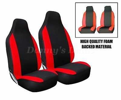 Front Red Racing Car Seat Covers Single Pair Set For Nissan Qashqai 2007 - 2013