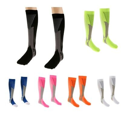 Outdoor Running Cycling Football Sports Leg Calf Support Compression Long Socks