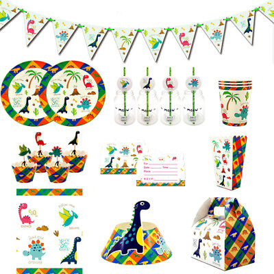 Dinosaur Children Kids Theme Birthday Party Supplies Tableware & Serveware Range
