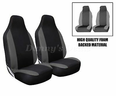 Front Grey Racing Car Seat Covers Single Pair Set For Nissan Qashqai 2007 - 2013