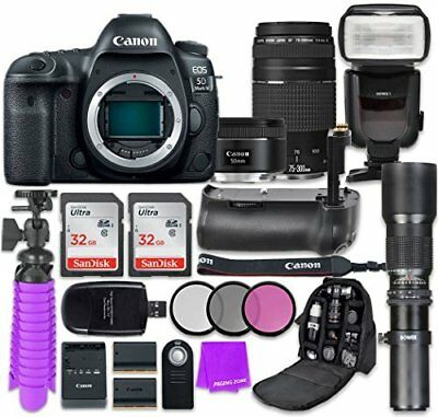 Canon EOS 5D Mark IV Camera with Canon EF 50mm Lens + Canon EF 75-300mm Lens