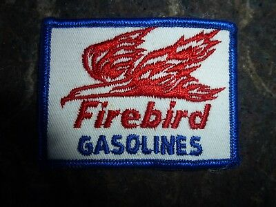 Vintage Firebird Gasoline Embroidered Sew-On Patch