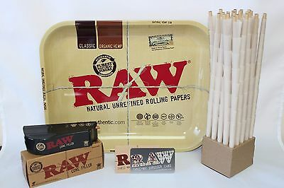 Raw King Size Cone Combo Tray+Organic Cones~Shooter~Raw Card