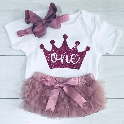 Luxury Girls Frilly Tutu Knicker Cake Smash 1st First Birthday Outfit Dusty Pink