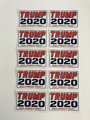 Trump 2020 ....Keep America Great !  ..Vinyl Stickers Decals ...10 Pack