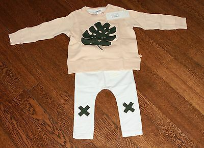 NWT TINY COTTONS 12-18 Month Sweatshirt and Logo Pant OUTFIT