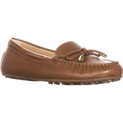 7d85eb2cc51 Michael Kors MK DAISY Luggage Leather Moc Loafers Flats Shoes 7.5 9.5 NEW
