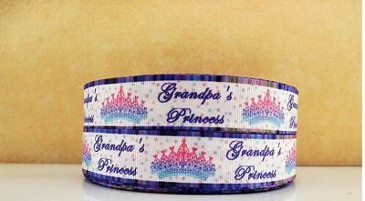 Grosgrain Ribbon Family Grandpa's Princess 25mm (1m, 2m or 5m)