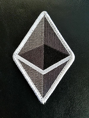 "Ethereum Logo Hook & Loop Backed Patch 3.6""x2.4"""